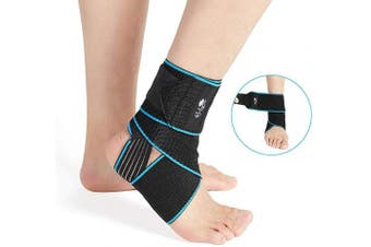 (1) - Ankle Support Brace, Adjustable Compression Ankle Braces for Sports Protection, One Size Fits Most for Men & Women (1)
