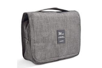 Hanging Toiletry Bag, Portable Travel Organiser Dopp Kit Wash Bag Grey Colour for Women and Men