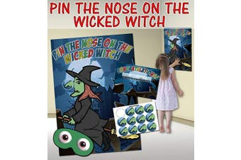 (Witch) - Pin the Nose on the Witch (Halloween themed Pin the tail on the donkey style game)