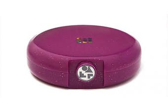 Caboodles Galaxy Glam - Cosmic Cosmetic Retro Compact Makeup Organiser, Berry Sparkle
