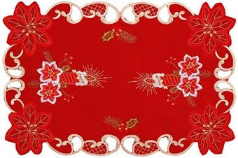 (6 piece 12*18 Placements) - Grelucgo Embroidered Christmas Holiday Dining Table Placemats Set of 6 (30cm x 46cm )