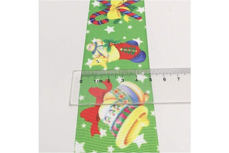 "(50mm(2""), Christmas) - Niangzisewing Mix 12 Yards 2""(50mm) Merry Christmas Grosgrain Ribbon Appliques Craft Party Decoration Santa Tree Claus Snowflake Jinglebell Snowman (Christmas, 50mm(2""))"