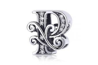 (Letter P) - BAMOER Letter Beads Initial A-Z Alphabet Charms for European Bracelets