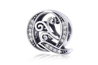 (Letter Q) - BAMOER Letter Beads Initial A-Z Alphabet Charms for European Bracelets