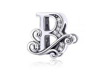 (Letter B) - BAMOER Letter Beads Initial A-Z Alphabet Charms for European Bracelets