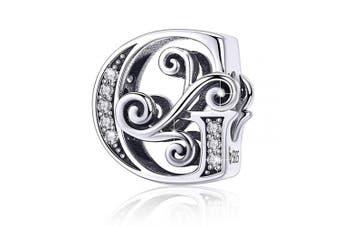 (Letter G) - BAMOER Letter Beads Initial A-Z Alphabet Charms for European Bracelets