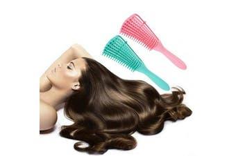 (2 brushes) - Ez Detangler Brush Flex Detangling Brush for Wet Hair Curly Hair Kinky Wavy Hair Coily Hair 4c Natural Black Hair