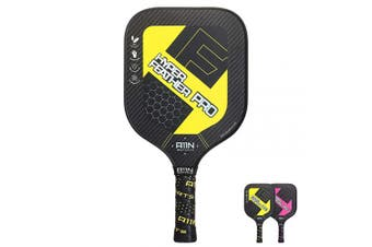 (Yellow) - A11N HyperFeather Pro Pickleball Paddle, Upgraded Nomex Core and 3K Carbon Fibres Surface Racquet, with Water Decal Printing and Cushion Comfort Grip, Performs Well in Touch, Power and Control