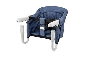 (Blue) - BeMAX Fast Hook On Table Chair, Fast Table Chair for Baby or Toddler, Attach to Table Without Leaving Scratches (Blue)