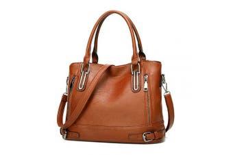 (Brown1) - Ladies Leather Handbag Designer Top-Handle Bag Vintage Tote Crossbody Shoulder Bag Fashion Clutch for Women (Brown1)