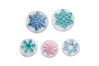 5 Pcs Snowflake Necklace Pendant Epoxy Resin Silicone Mould,Crafting Clay Moulds,Jewellery Earrings Making,DIY Mobile Phone Decoration Tools