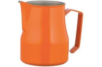 (Orange, 750ml) - Motta Stainless Steel Professional Milk Pitcher, 750ml, Orange