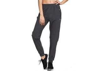 (XX-Large, Dark-Gray) - Baleaf Women's Athletic Joggers Pants Dry Fit Running Gym Pants Zipper Pockets Sports Pants