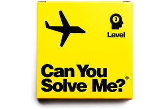 (Level 3 Airplane) - Can You Solve Me. - Puzzle - Challenging Tangram, IQ Toy, Brainteaser, Mind Game for Children + Adults - Includes Geometric Shape (Level 3 Aeroplane)