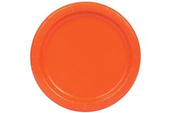 Unique Party 32252 - 23cm Orange Party Plates, Pack of 16