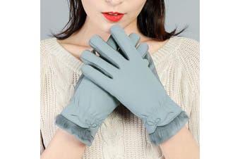 (Women Gloves Green) - A-MORE Women Winter Gloves,Warm Gloves Touchscreen Gloves Thick Windproof Women's Warmer Winter Gloves Skiing Outdoor Sports