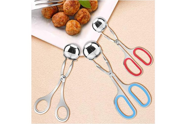 3 Pcs Stainless Steel Meat Ballers, AIFUDA Nonstick Meatball Scoop Ball Maker Ice Tongs for Cake Pop, Ice Cream Scoop, Fruit, Cookie Dough, Melon