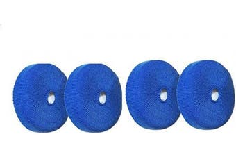 (Blue) - Gerod 2 Pairs Headphone Sweater Earpads Cover Fabric Earcup Protectors for Beats Solo3, Solo 3, solo2, Solo 2, Solo HD, Mixr, EP, Sony Headphones (Blue)