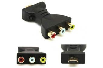 HDMI to 3 RCA Adapter, Haokiang AV Digital Signal HDMI Male to 3 RCA Female Audio Adapter Component Converter