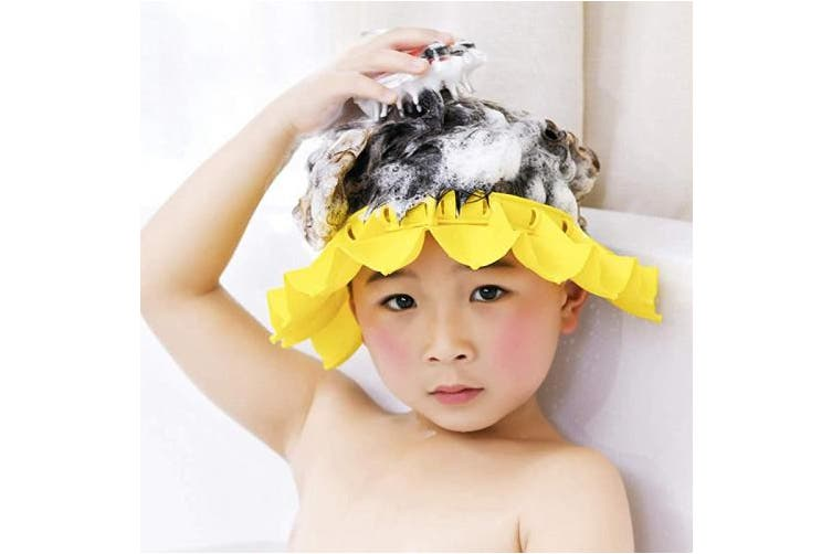Dick Smith Yellow Hapileap Baby Shampoo Shower Cap Hat Soft Silicone For Baby Infants Kids And Children Safe Bathing Hair Waterproof Cap Shampoo Yellow Baby Bathing Grooming Bathing Accessories