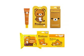 (Collection Bundle) - Rilakkuma - Collection Bundle | Facial Sheet Mask - Hand Cream - Nose Strips - Under Eye Mask - Blemish Patches - Makeup Remover Wipes