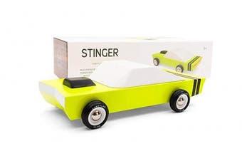 (Stinger) - Candylab Toys - Stinger Wooden Car - Modern Vintage Racer - Solid Beech Wood