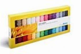 Mettler 28 Spool Polysheen Basic Thread Set PS28-Kit Mettler 28 Spool Polysheen Basic Thread Set PS28-K 28 220 yard spools