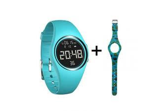 (Blue) - mijiaowatch Fitness Tracker, Smart Watch Non-Bluetooth, Pedometer Smart Bracelet with Timer Step Calories Counter Date Vibration Alarm for Sport Walking Kids Women Men