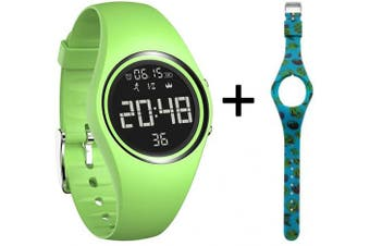 (Green) - mijiaowatch Fitness Tracker, Smart Watch Non-Bluetooth, Pedometer Smart Bracelet with Timer Step Calories Counter Date Vibration Alarm for Sport Walking Kids Women Men