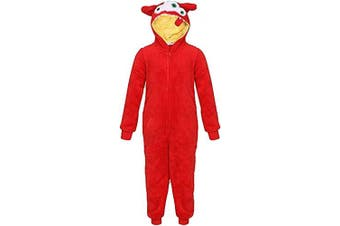 (2-3 Years, Red Monster) - A2Z 4 Kids® Unisex Kids Soft Fluffly Animal Onesies Monkey Gorilla Leopard Skull Camouflage Costume 2-13 Years
