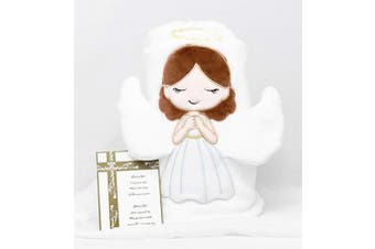 Children's Angel Baby Blanket with 3D Wings Gift for Birth Baptism Christening Dedication