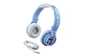 eKids Frozen 2 Wireless Bluetooth Portable Kids Headphones with Microphone, Volume Reduced to Protect Hearing Rechargeable Battery, Adjustable Kids Headband for School Home or Travel