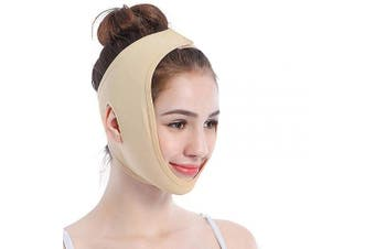 (M) - Face Lifting Slimming Belt, Facial Cheek V Shape Lift Up Thin Mask Strap Face Line Smooth Breathable Double Chin Reduce Bandage for Men and Women by ANIBBOW (M)