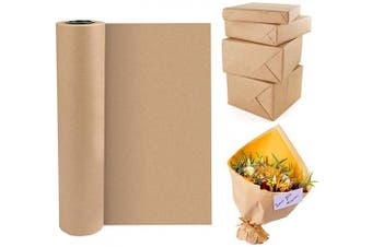 BUZIFU Kraft Paper Roll Brown Paper Packing Roll Natural Recycled Paper Wrapping Paper Kraft Packing Paper for Crafts, Art, Gift Wrapping, Packing, Postal, Shipping, Dunnage & Parcel, 30.5 cm x 30 M