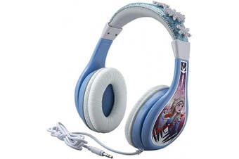 Frozen 2 Kids Headphones, Adjustable Headband, Stereo Sound, 3.5Mm Jack, Wired Headphones for Kids, Tangle-Free, Volume Control, Foldable, Childrens Headphones Over Ear for School Home Travel
