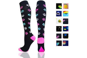 (Large/X-Large, Cat Claw) - Compression Socks Women & Men - Best for Running,Medical,Athletic Sports,Flight Travel, Pregnancy