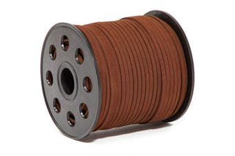 Bright Creations Faux Suede Leather String Cord, 98.5 Yards, Dark Brown