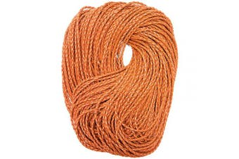 Bright Creations Braided PU Leather String Cord, 55 Yards, Light Brown
