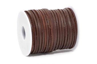Bright Creations Leather String Cord for Crafts, Jewellery Making, 30.5 Yards, Dark Brown