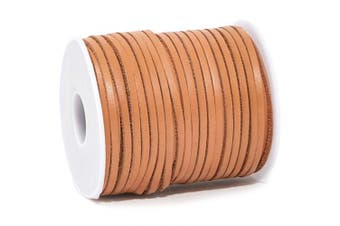 Bright Creations Leather String Cord for Crafts, Jewellery, 30.5 Yards, Light Brown