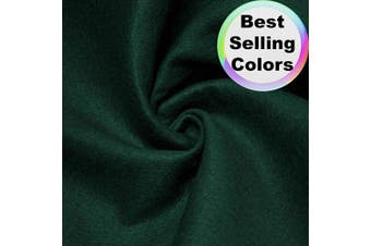 "(1 Yard, Hunter Green) - Barcelonetta | Acrylic Felt Fabric | 72"" Inch Wide | 1.5mm Thick | DIY Arts & Crafts, Sewing, Cushion and Padding (Hunter Green, 1 Yard)"