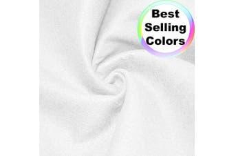 "(1 Yard, White) - Barcelonetta | Acrylic Felt Fabric | 72"" Inch Wide | 1.5mm Thick | DIY Arts & Crafts, Sewing, Cushion and Padding (White, 1 Yard)"