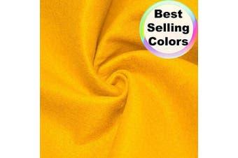 "(2 Yard, Golden Yellow) - Barcelonetta | Acrylic Felt Fabric | 72"" Inch Wide | 1.5mm Thick | DIY Arts & Crafts, Sewing, Cushion and Padding (Golden Yellow, 2 Yard)"
