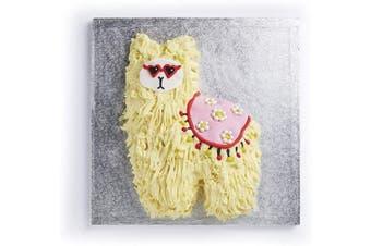 (Llama) - KitchenCraft Sweetly Does It Llama Tin, Novelty Birthday Cake Pan with Recipe, Silver Anodised Aluminium