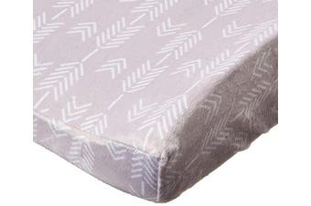 (Grey Arrows) - Summer Ultra Plush Changing Pad Cover, Grey Arrows