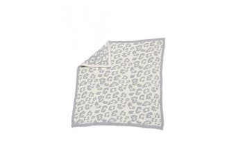 (Ocean) - Barefoot Dreams Cozychic Barefoot in the Wild Baby Blanket - Ocean/Cream