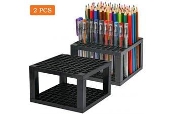 ATPWONZ 96 Hole Art Plastic Pencil Brush Holder Detachable Desk Stand Organiser Holder for Gel Pens,Paint Brushes,Coloured Pencils,Markers & More