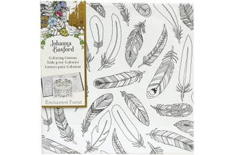 (Enchanted Forest  - Feathers) - Art Alternatives Johanna Basford Enchanted Forest Colouring Canvas - Feathers,
