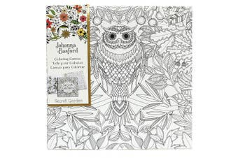 (Secret Garden - Owl) - Art Alternatives Johanna Basford Secret Garden Colouring Canvas - Owl,