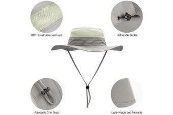 (Light Gray) - Sun Hats for Men Women Fishing Hat UPF 50+ Breathable Wide Brim Hat